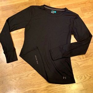 Under Armour black thermal long sleeve large NWOT